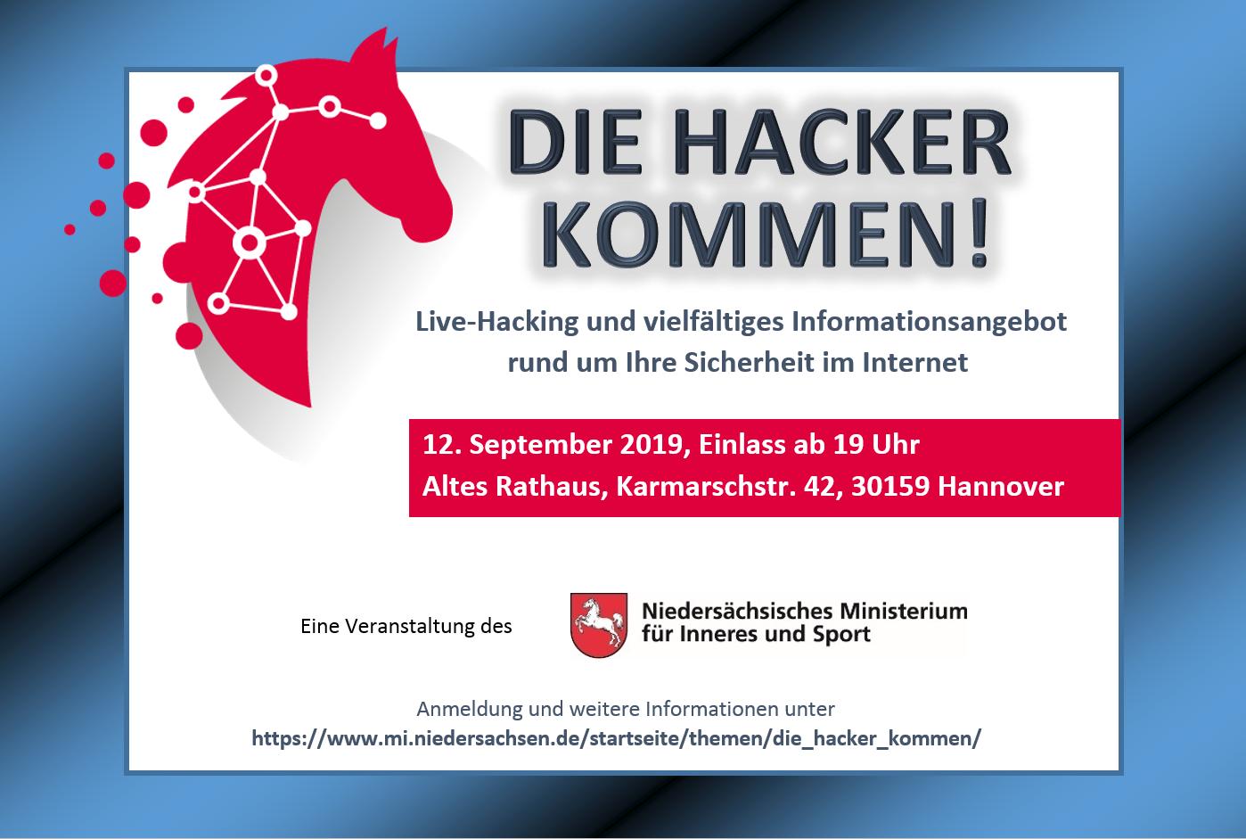 Dsin ist zu Gast bei Die Hacker kommen am 12. September im Alten Rathaus Hannover