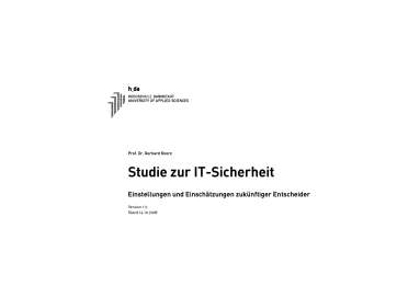 Studie IT-Sicherheit