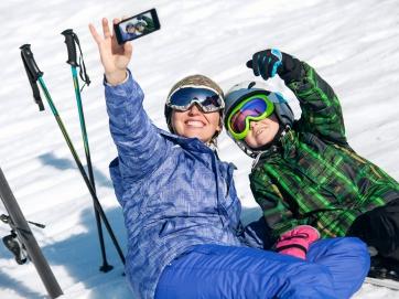 Winter Smartphone sicher Ferien