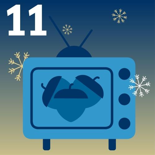 Fernseher mit drei Haselnüssen
