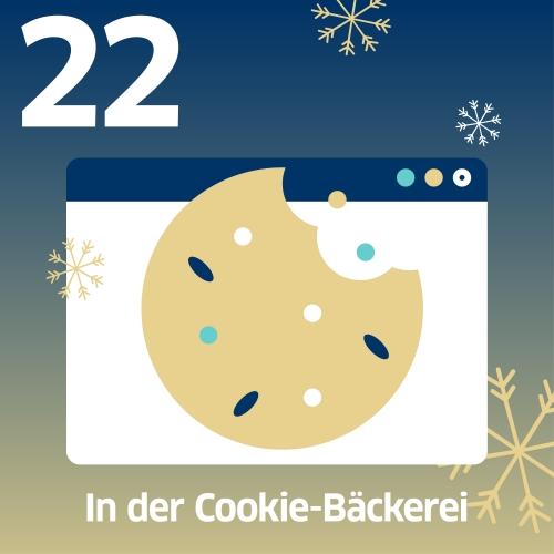 abgebissener Cookie