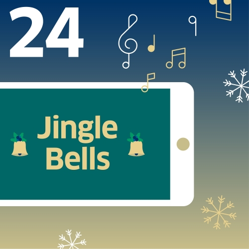 Jingle Bells auf Display