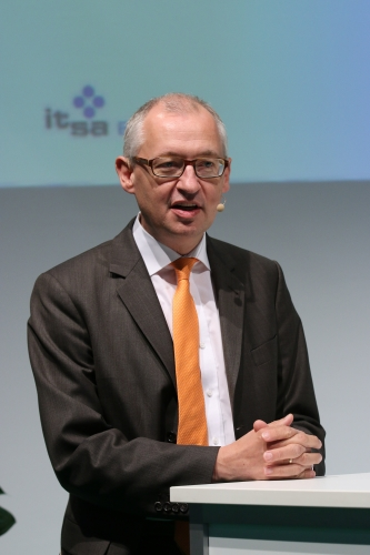 IT-Direktor im Bundesministerium des Innern, Martin Schallbruch, bei seiner Keynote.