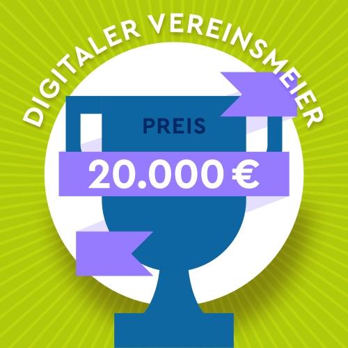 Sharepic quadratisch Digitale-Woche-Vereinsmeier, Preis 20000 EUR-Post_Feed, grün