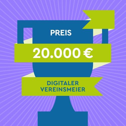 Sharepic quadratisch Digitale-Woche-Vereinsmeier, Preis 20000 EUR-Post_Feed, lila