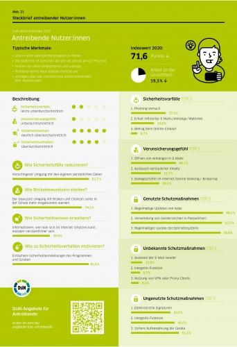 DsiN-Sicherheitsindex 2021 Steckbrief Antreibende Nutzer:innen