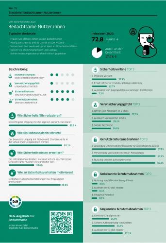 DsiN-Sicherheitsindex 2021 Steckbrief Bedachtsame Nutzer:innen
