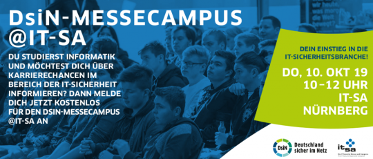 DsiN-MesseCampus @ it-sa 2019 Flyer