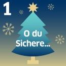 """Tannenbaum mit Schriftzug """"O du Sichere"""""""