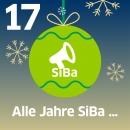 Christbaumkugel mit Aufschrift: Alle Jahre SiBa