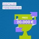 Sharepic quadratisch Digitale-Woche-Vereinsmeier, Preis 20000 EUR-Post_Feed, blau