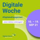 Sharepic quadratisch Digitale Woche grün, jetzt Aktion eintragen