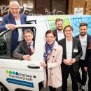 Digitale Aufklärung für ländliche Räume: Auf der Eröffnung des DsiN-Forums Digitale Aufklärung wurden die neuen Beratungsbusse der Digitalen Nachbarschaft, die DiNa-Mobile, erstmalig vorgestellt.