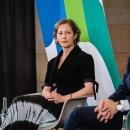 DsiN-jahreskongres-2021-Abschlusspanel: Katharina Kunze (DsiN-Projektleiterin) und Steffen Ganders (DsiN-Mitglied Samsung)