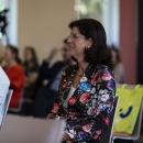 Carola Schaaf-Derichs, Geschäftsführerin Landesfreiwilligenagentur Berlin und Standortleiterin des DiNa-Treffs Berlin-Mitte begleitet die Veranstaltung.