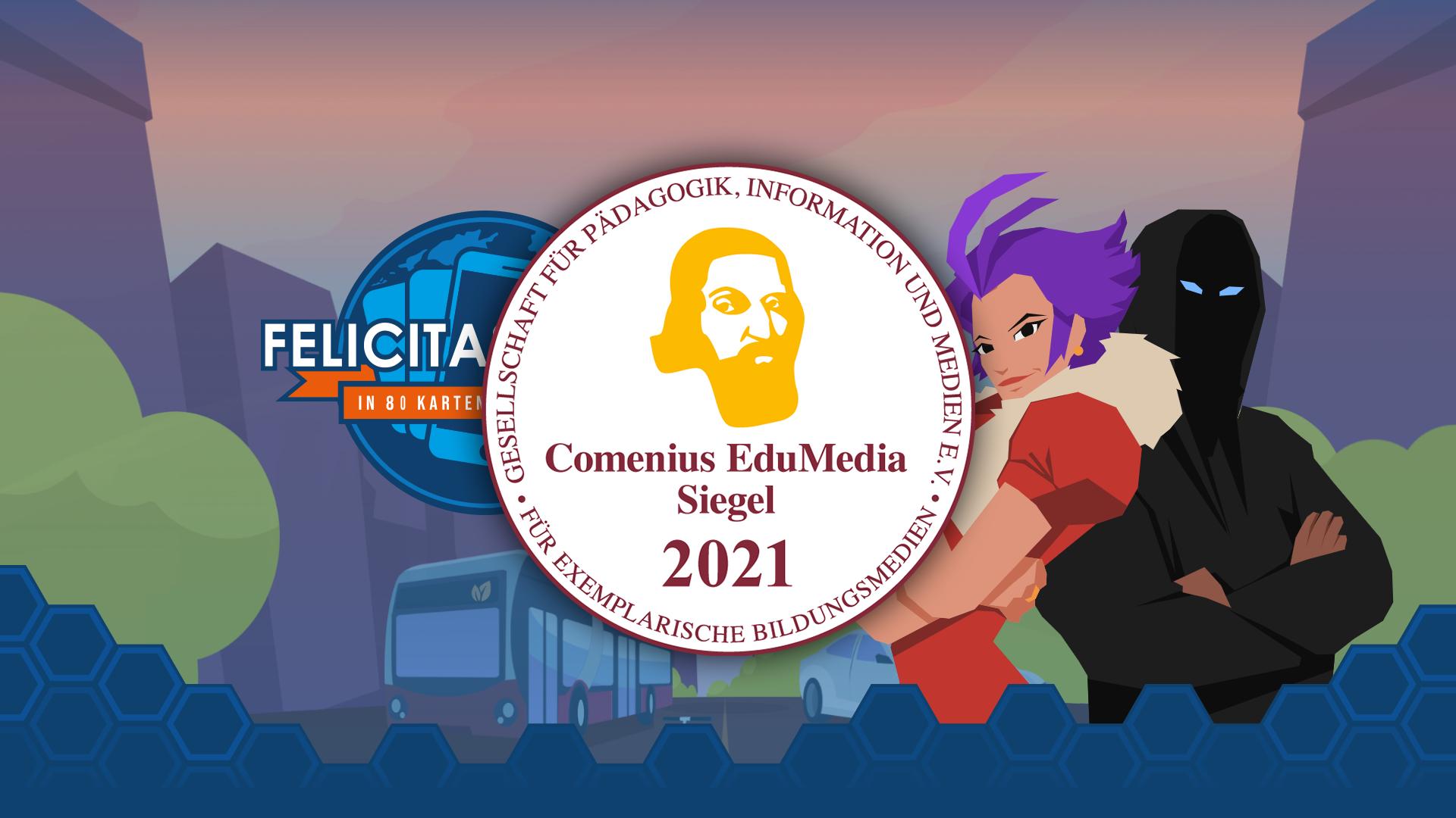 Felicitas Fogg Grafik mit EduMedia-Siegel