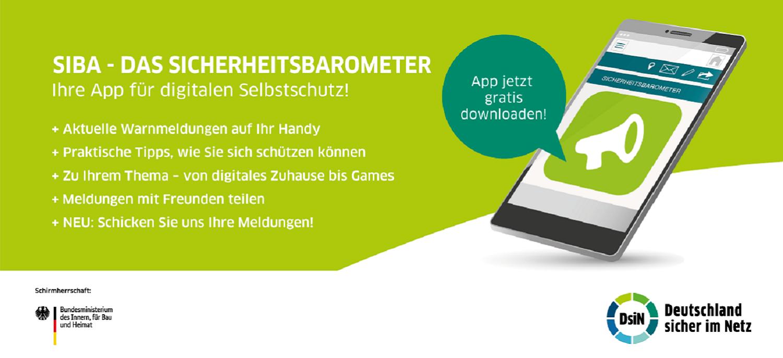 SiBa App Flyer