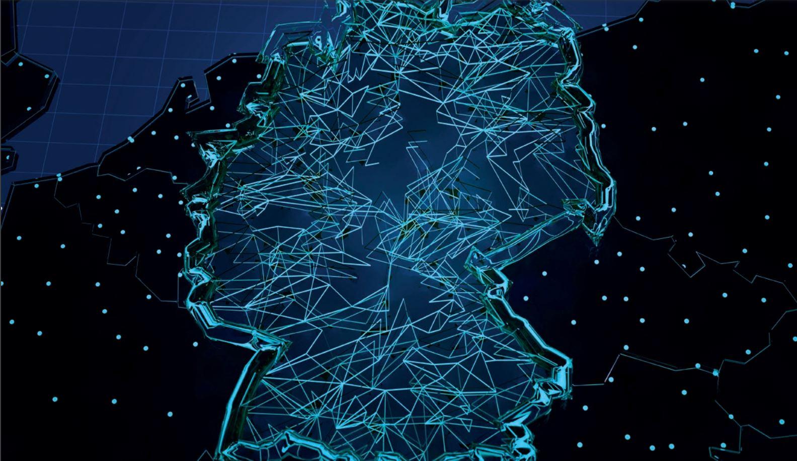 Titel-Illustration des BSI-Lagebericht der IT-Sicherheit 2020: eine abstrakte Deutschlandkarte