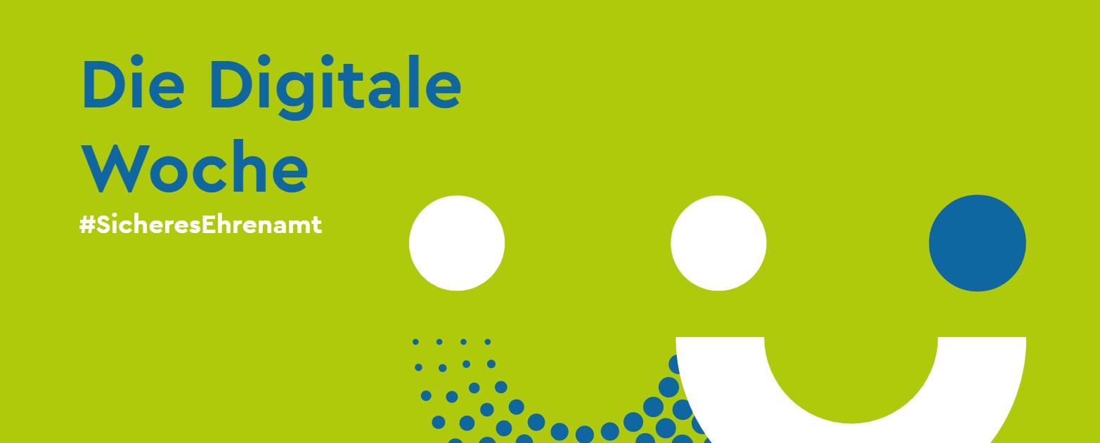 Banner Digitale Woche unter dem Hashtag SicheresEhrenamt