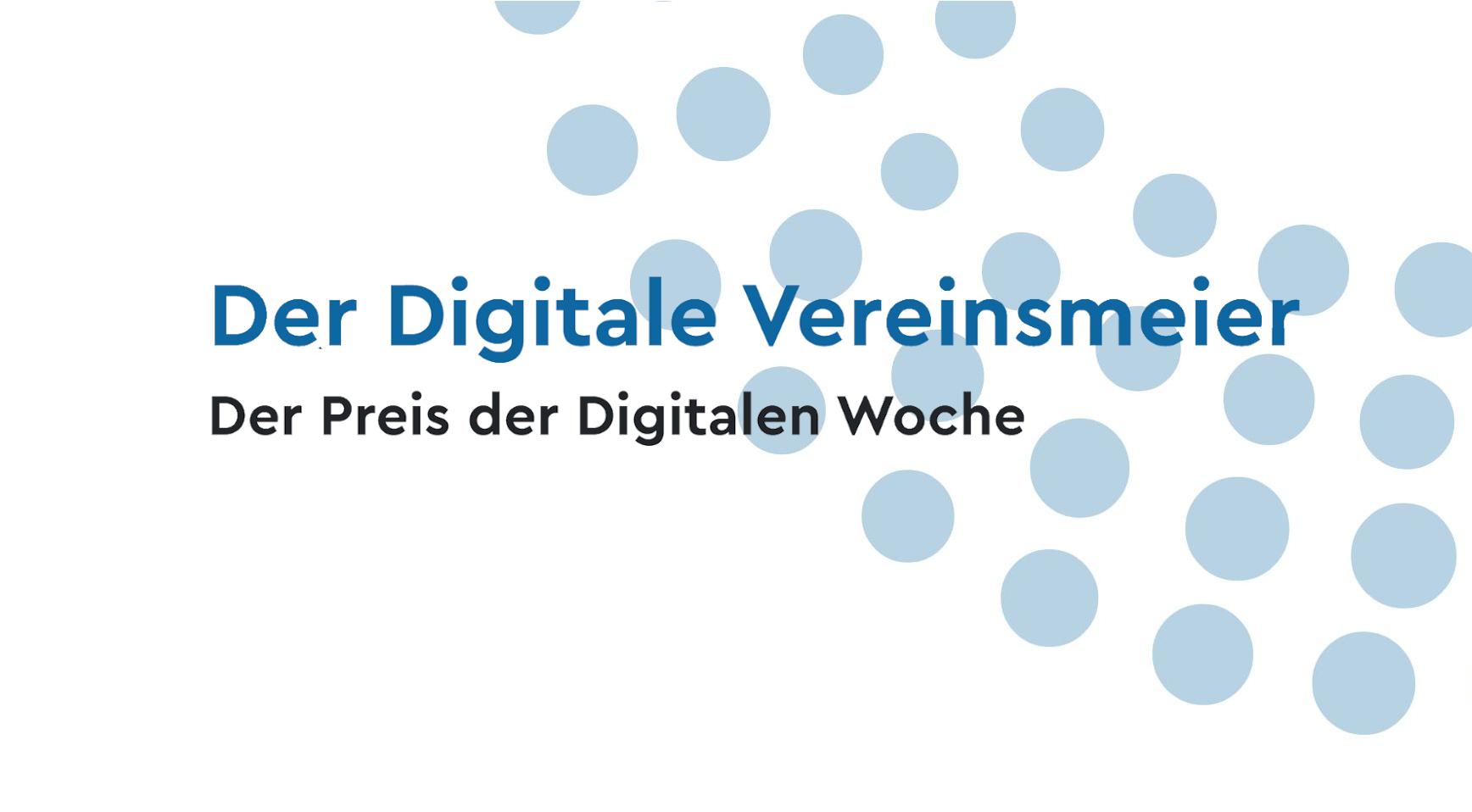 Titelbild: Der Digitale Vereinsmeier, Der Preis der Digitalen Woche