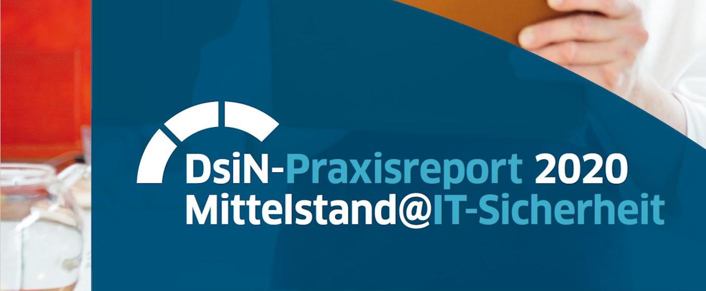 Logo des DsiN Praxisreport 2020 Mittelstand @ IT-Sicherheit