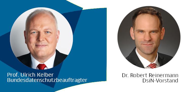 Bundesdatenschutzbeauftragter Prof. Ulrich Kelber und DsiN-Vorstand Dr. Robert Reinermann
