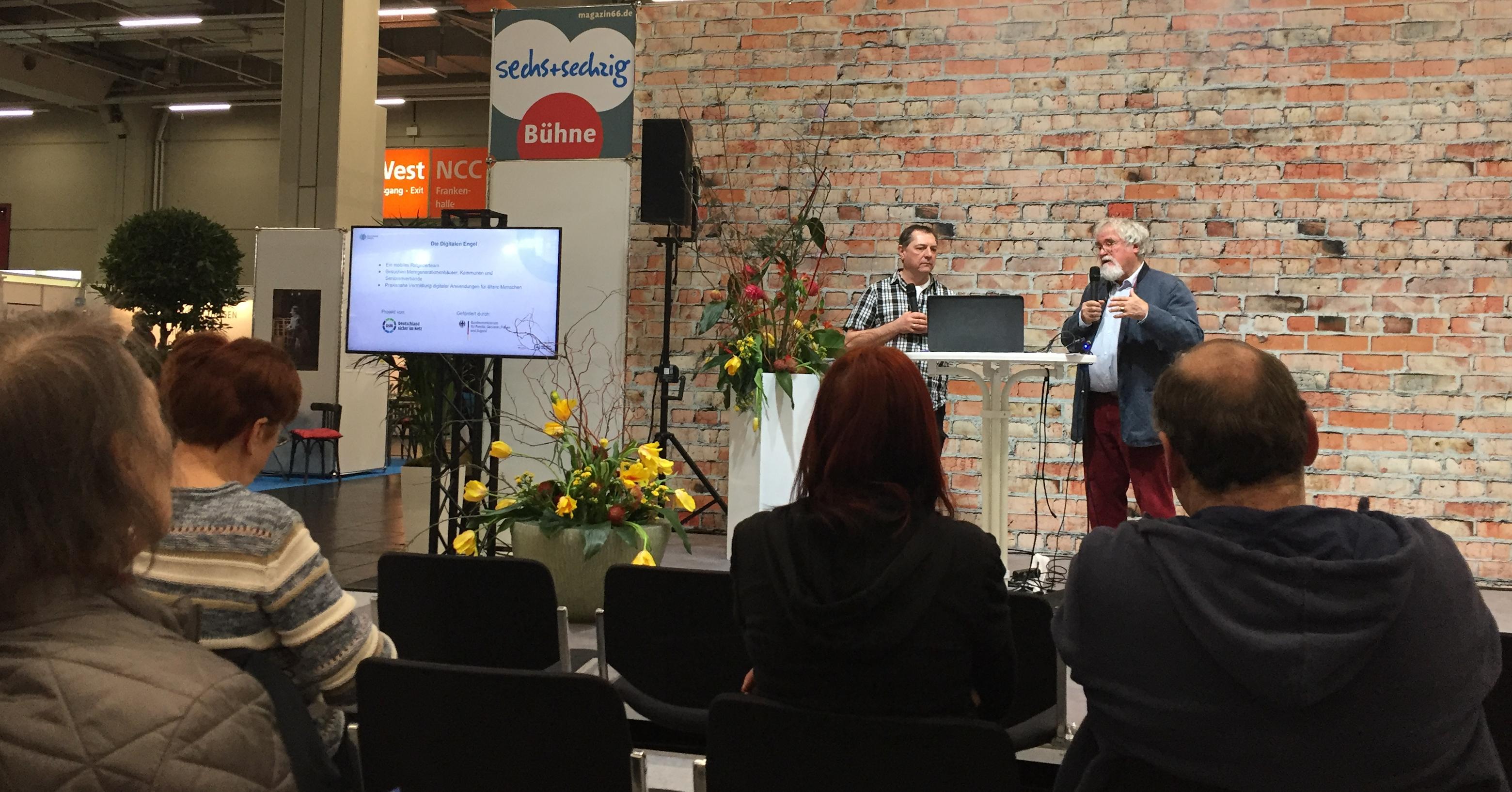 Digitaler Engel Jürgen Schuh auf der Inviva Messe Nürnberg 2020