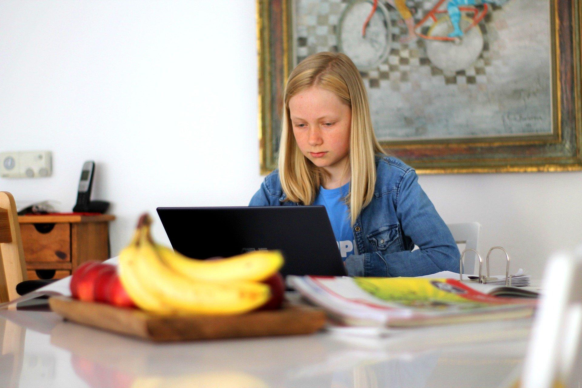 Junge Schülerin lernt von zu Hause: Empfehlungen aus dem Projekt DigiBitS - Digitale Bildung trifft Schule